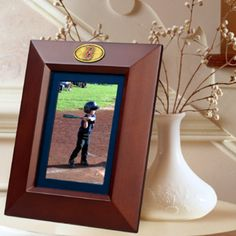 """""""Boston Red Sox 5"""""""" x 7"""""""" Vertical Brown Picture Frame"""": """"This wooden frame features the Boston Red Sox… #Sport #Football #Rugby #IceHockey"""