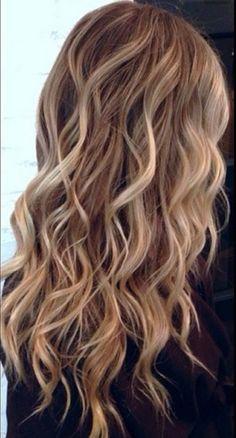 Blonde ombré waves