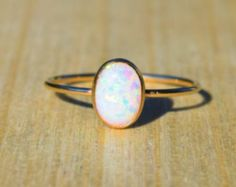 Silver Lab Opal Ring White Opal Ring Opal by NaturallyByGrace