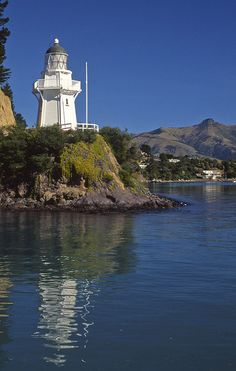 LIGHTHOUSE. Akaroa, South Island, New Zealand