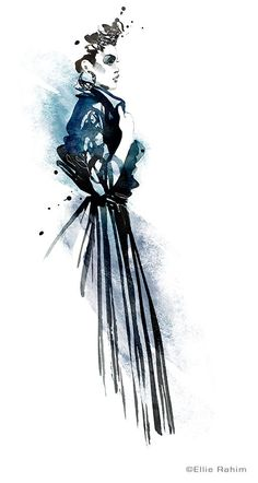 awesome #watercolor #fashion #illustration from life. Print available for purchase. elli...