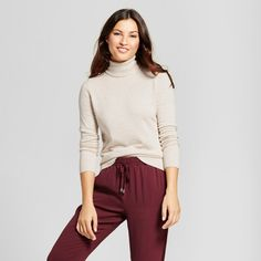 Women's Turtleneck - A New Day Oatmeal Xxl