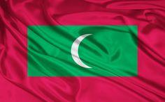 Flag of the Maldives wallpaper