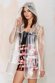 All Clear Plastic Rain Coat