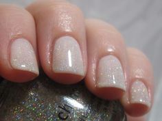 China Glaze Fairy Dust over OPI Don't Touch My Tutu - Lavish Layerings