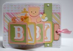 Paper Creations by Kristin: Baby Waterfall Cards (Girl and Boy)