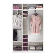 PAX Wardrobe with interior organizers - soft closing damper - IKEA Hall Wardrobe, Diy Wardrobe, Bedroom Wardrobe, Wardrobe Design, Built In Wardrobe, Wardrobe Furniture, Ikea Furniture, Deep Closet, Wardrobe Organisation
