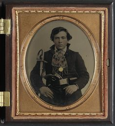 [Unidentified soldier in Confederate uniform with cavalry sword and revolver] (LOC) | Flickr - Photo Sharing!