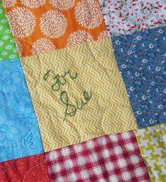 Quilt Patchwork Quilt Personalized Classic by secondsanctuary