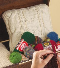 Twisted Taffy Pillows - @joannstores #knit #pillow