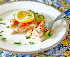 AZ Cookbook - Food From Azerbaijan & Beyond » Lemony Fish Bughlama with Vegetables and Herbs