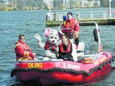 DLRG Manni Boot - angeschafft mit Spende der #Haspa