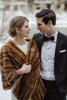 Winter Wedding Fur, Winter Wedding Bridesmaids, Winter Bride, Winter Wonderland Wedding, Winter Weddings, Old Hollywood Wedding, Old Hollywood Glamour, Vintage Fur, Vintage Bridal