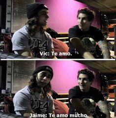 (translation) Vic: I love you. Jamie: I love you a lot