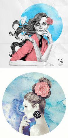 Fashion Illustrations by Mustafa Soydan | Inspiration Grid | Design Inspiration