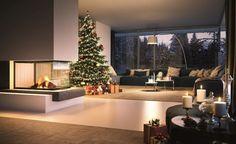 Sunny fire 56 Palazzetti No 1 Home Fireplace, Living Room With Fireplace, Fireplace Design, Home Living Room, Interior Design Living Room, Living Room Designs, Modern House Design, Room Decor, House Styles