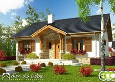 Dream House Plans, Small House Plans, My Dream Home, Small Country Homes, Small Cottage Homes, Bungalow House Design, House Elevation, Farmhouse Plans, Cool House Designs