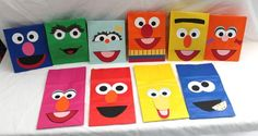 sesame street homemade party decorations | 10 Handmade Sesame Street INSPIRED Kids Birthday Party Theme Treat ...