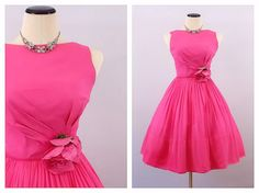 Pink Party Dress  Size Small 50s Union Made by TheBirdcageVintage, $119.99