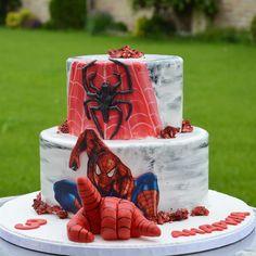 #spiderman #spidermancake Dad Cake, Batman Spiderman, Superhero Cake, Just Cakes, Loic, Super Man, Birthday, Disney, Ideas