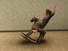 "danjaley: ""TSM Rocking HorseI saw this for Sims 2 in this post, and wanted to have it, too. As tumblr informs me, that was two months ago… It's cloned from a Generations spring rider. While animations..."