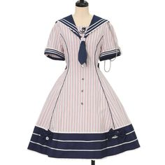 ♡ metamorphose ♡ Striped Sailor Dress http://www.wunderwelt.jp/products/detail13187.html ☆ · .. · ° ☆ How to order ☆ · .. · ° ☆ http://www.wunderwelt.jp/user_data/shoppingguide-eng ☆ · .. · ☆ Japanese Vintage Lolita clothing shop Wunderwelt ☆ · .. · ☆