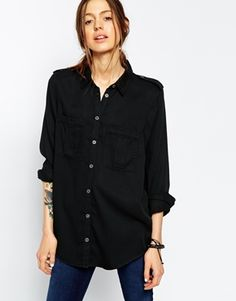 Enlarge ASOS Washed Military Shirt