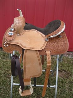 One of the many beautiful saddles for sale at Tina's Horse Tack!