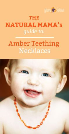 Many mamas swear by em, but do they work? Are they safe? Should you buy a baltic amber teething necklace for your baby? Find out! Baby Teething Remedies, Teething Symptoms, Teething Babies, Baltic Amber Teething Necklace, Wedding Ring For Her, Wedding Rings, Baby Necklace, Natural Parenting, Baby Health