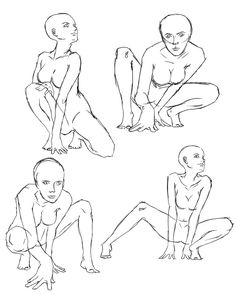 sitting poses... how to draw