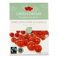 Green Dream Choklad Tranbär 55g