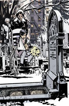 Artwork - John Paul Leon Comic Book Artists, Comic Books, Comic Book Layout, Funny Illustration, Illustrations, Monochromatic Art, Traditional Ink, Batman Art, John Paul