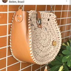"""New Cheap Bags. The location where building and construction meets style, beaded crochet is the act of using beads to decorate crocheted products. """"Crochet"""" is derived fro Crochet Handbags, Crochet Purses, Handmade Handbags, Handmade Bags, Crochet Eyes, Knit Crochet, Crochet Shell Stitch, Macrame Bag, Kids Bags"""