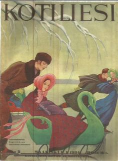 Kotiliesi 6 1934 (kansi Rudolf Koivu) History Of Finland, Vintage Book Art, Foreign Language, Children's Books, Magazine Covers, Art Deco, Ads, Painting, Image