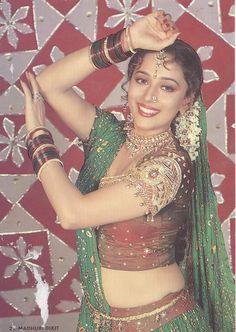 Madhuri Dixit for Anjaam Indian Bollywood Actress, Beautiful Bollywood Actress, Most Beautiful Indian Actress, Beautiful Actresses, Indian Actresses, Bollywood Outfits, Bollywood Fashion, Long Indian Hair, Beautiful Blonde Girl