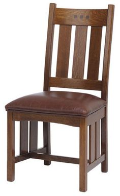 """San Marino SMW-LSC1-F Low Slat Back Side Chairs, Dining Room Chairs, Dining Room, Mission Furniture 39"""""""