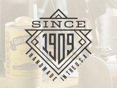 Dribble ~ Since 1909 by Mackey Saturday Vintage Graphic Design, Graphic Design Inspiration, Badge Design, Logo Design, Typography Love, Lettering, Badge Icon, Logo Branding, Logos