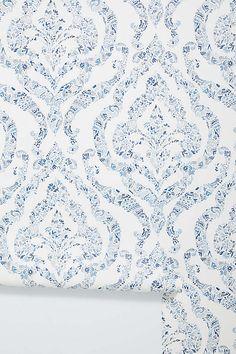 Featherton Floral Damask Wallpaper