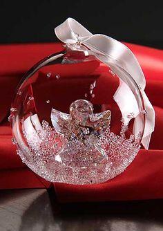 Swarovski 2015 Annual Edition Christmas Ball Ornament - I want this one for Xmas Swarovski Ornaments, Swarovski Crystal Figurines, Swarovski Crystals, Christmas Baubles, Holiday Ornaments, Red Christmas, Beautiful Christmas Decorations, Glass Figurines, Ball Ornaments