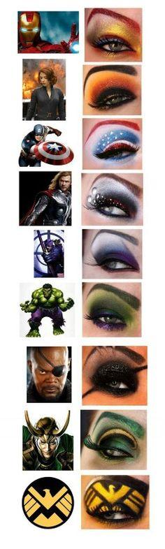 Avengers makr up