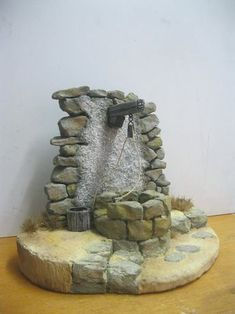 Más Christmas Nativity Scene, Nativity Crafts, Christmas Home, Christmas Crafts, Christmas Decorations, Arts And Crafts For Teens, Stone Molds, Fairy Garden Supplies, Scale Art