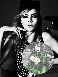 Cara Delevingne as Enchantress. #Suicide_Squad_Movie #Suicide_Squad #The_Joker #Harley_Quinn #Deadshot #Rick_Flagg #Captain_Boomerang #Enchantress #DC_Comics