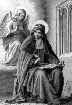 """Today, July we celebrate the feast day of Saint Bridget of Sweden """"Mystic of the North"""" and """"Spokeswoman of God. Catholic Saints, Patron Saints, Roman Catholic, Religious Images, Religious Art, St Bridget Of Sweden, Angel Prayers, Bible Prayers, Blessed Mother Mary"""