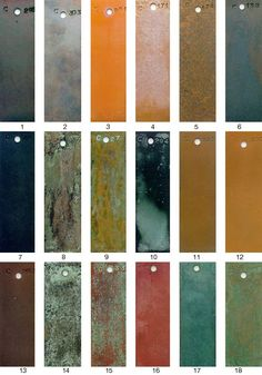 METALS FINISH GUIDE-(AB) Patina Metal, Bronze Patina, Patina Finish, Metal Facade, Metal Siding, Prospect House, Rose House, Decorative Plaster, Metal Texture