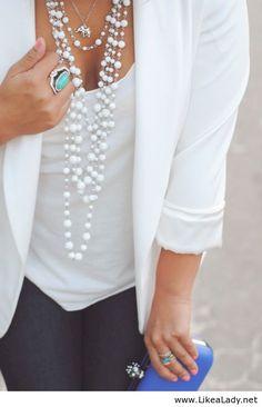 White blazer basic