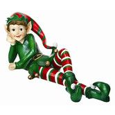 Found it at Wayfair - Laying Elf Statue Christmas Decoration