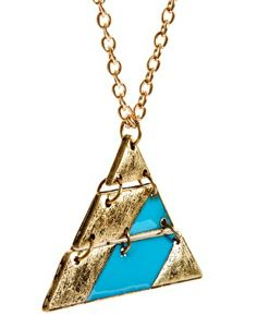 ASOS Geo-Tribal Triangle Pendant Necklace  $15.05