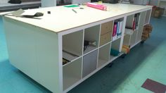 PANYL's Giant, Moveable IKEA Expedit Worktable Hack