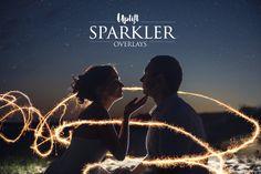 160 Sparkler Overlays