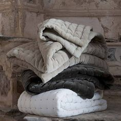 quilted velvet throw by idyll home | notonthehighstreet.com